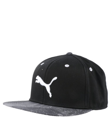 df747863 Puma Graphic Flat Brim Cap Black