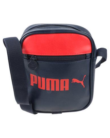 30fbbc2125d0 Puma Campus Colour Block Portable Messenger Bag Navy
