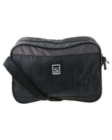 827385b652e2 Puma Sole Graphic Reporter Messenger Bag Black