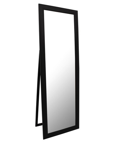 Mocha Free Standing Mirror Black | Zando
