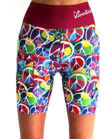 Vivolicious Peace Performance Tech Shorts Printed Pink