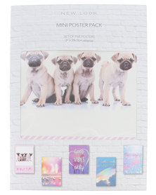 New Look Pop 5 Packet Poster Pack Multi Coloured