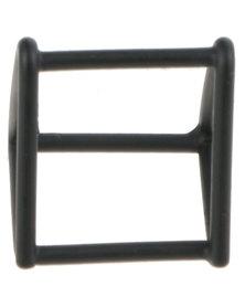 De Stijl Copper Open Triangle Cube Ring Black