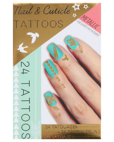 Npw Metallic Nail Cuticle Tattoos Gold Zando