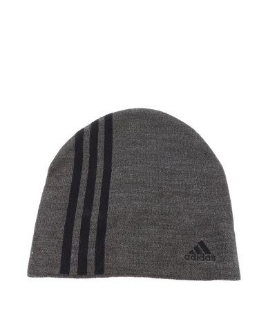 brand new 347be 49773 get adidas performance essential 3 stripes beanie charcoal ddeca f10f3