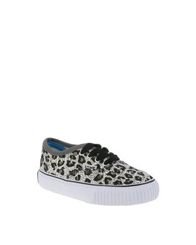 Tomy Kids Leopard Print Sneakers Charcoal Zando