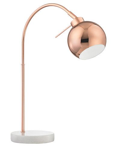 Illumina Arco lamp with Marble Base Copper
