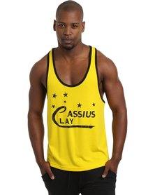 IMYG Gymwear Cassius Clay Singlet Vest Yellow