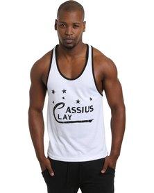 IMYG Gymwear Cassius Clay Singlet Vest White