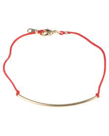 De Stijl Swarovski Bracelet Red/Gold