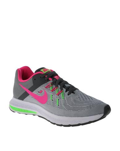 wholesale dealer 6bf5e 77565 Nike Performance Women s Zoom Winflo 2 Running Shoes Grey   Zando