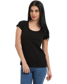 Utopia Stretch Basic Tee Black