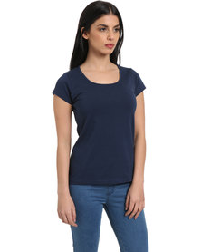 Utopia Stretch Basic Tee Navy