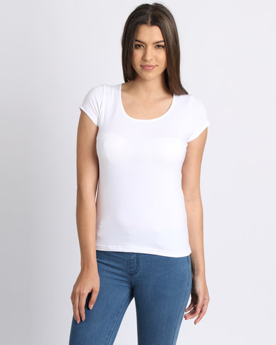 Utopia Stretch Basic Tee White