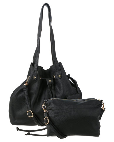 819edf0cea75 Utopia Drawstring Tote Bag Black