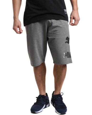 f975920578a Puma Archive Logo Bermuda Shorts Grey   Zando