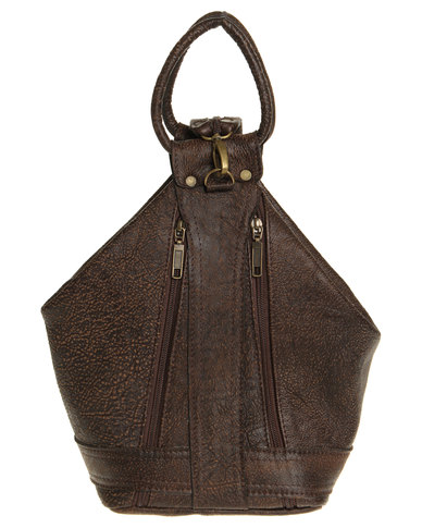 Ivy's Designer Leather Handbags Petra Structured Leather Backpack ...