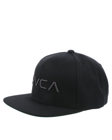 finest selection 86ffb 43067 RVCA Twill SnapBack III Black   Zando
