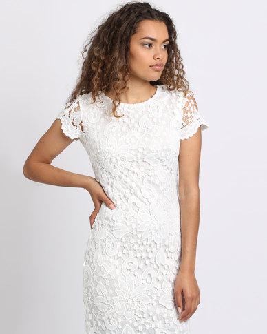 928f14d21b1 AX Paris Crochet Lace Midi Dress Cream