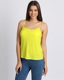 New Look Crepe Strappy Cami Yellow