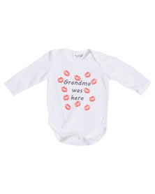 "Moederliefde ""Grandma was here"" Long Sleeve Baby Bodyvest"