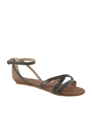 John Buck Emily Ladies Sandals Silver