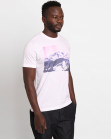 Utopia Rockies Print Tee White