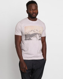 Utopia Rockies Print Tee Grey