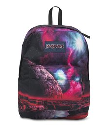 JanSport High Stakes Backpack Multi Cosmic Waters Red