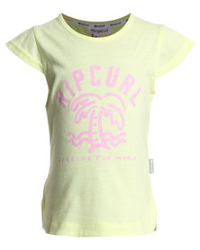 Rip Curl Surf The World Tee Yellow