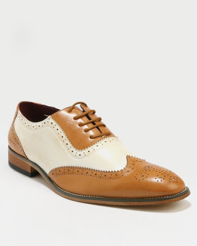 outlet looking for Anton Fabi Anton Fabi Campin PU Full Contrast Brogue Tan/Beige free shipping release dates TwuLSy