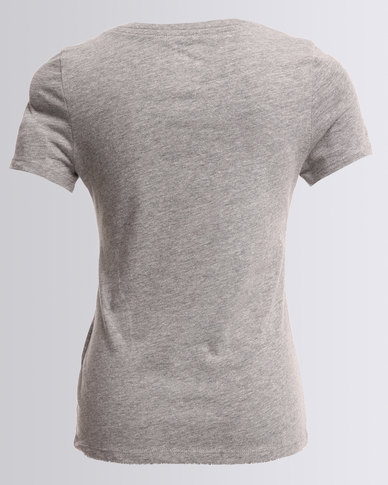 12c80f8d7e5 Nike Cotton Short Sleeve V-Neck Varsity Art Tee Grey