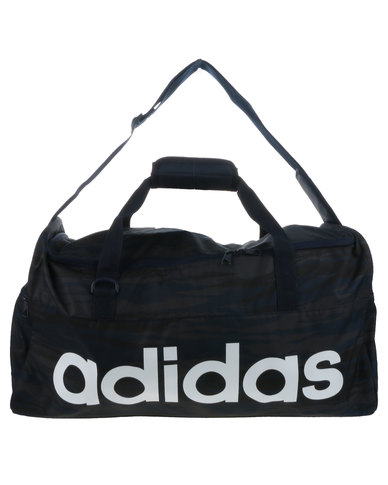 wholesale dealer 65ce6 a3c2c adidas Performance Linear Performance Graphic Team Bag Medium Black   Zando