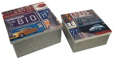 Set of 2 Metal Boxes Number Plate