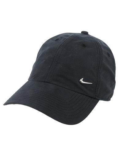Nike Swoosh Cap Black Silver  8f988188fa2