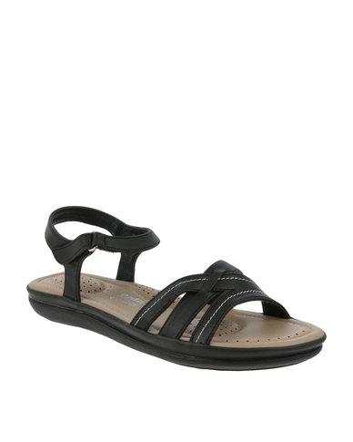Ladies Bata Sandal Black Flat Comfit c1J3KTuF5l