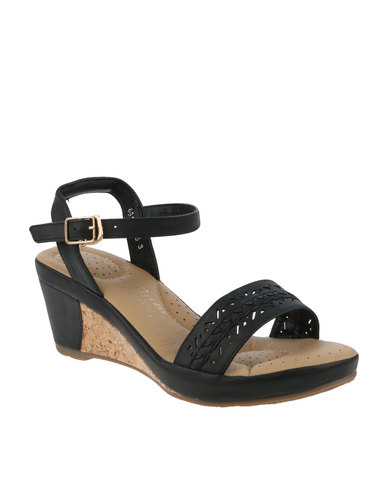 3de6bb50a367 Bata Comfit Ladies Wedge Sandal Black