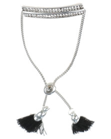 Lily & Rose Bar And Tassel Bracelet Silver-tone