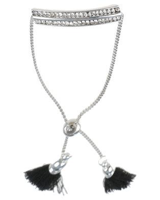 Lily & Rose Bar And Tassel Bracelet Silver-tone