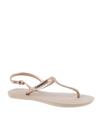 cd4171ea03f6 Havaianas Freedom Flip Flops Rose Gold