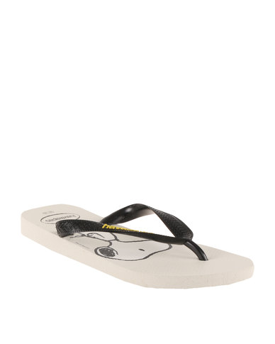 8746f88f6 Havaianas Snoopy Flip Flops White Black