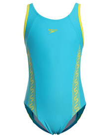 Speedo Monogram Muscleback Teal