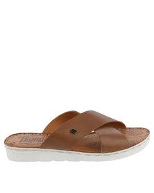 Tsonga Nombali Leather Slip On Sandal Tan