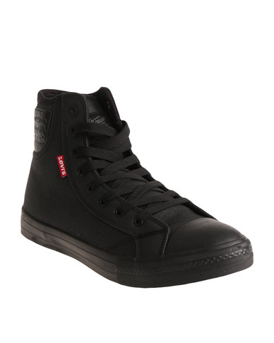 Levi's® Hamilton Buck II High Top Canvas Shoe Black