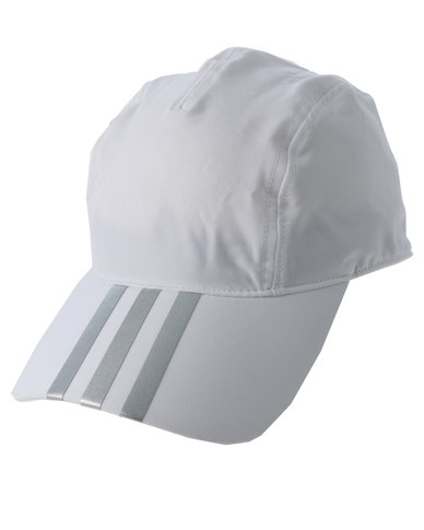 af19e7783ed adidas Performance Running Climalite 3S Cap White