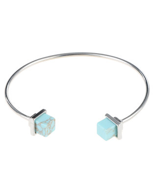 Cuff Bangle with Marble Detail