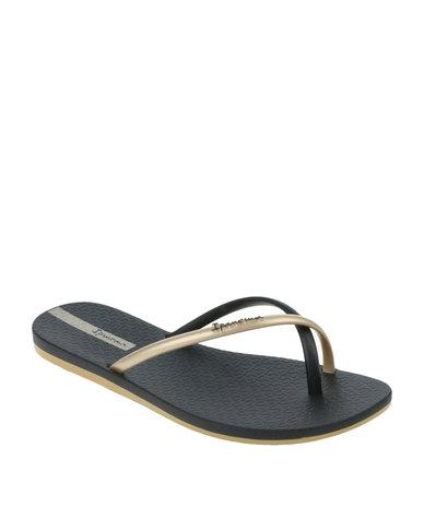 45fb43c1f Ipanema Fit Summer Fem Flip Flops Black Gold
