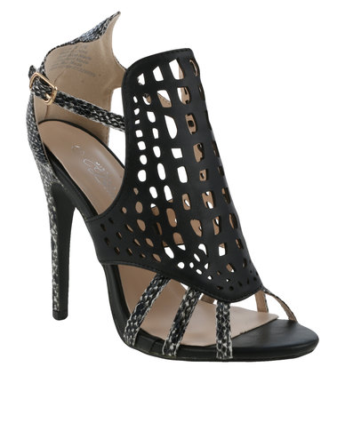 With Luna Miss Detail Black Heel Out Cut Caged High XNP0O8nwk