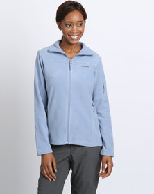 Columbia Fast Trek Ii Full Zip Fleece Jacket Light Blue