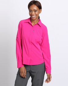 Columbia Silver Ridge Long Sleeve Shirt Pink